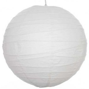 Lantern; 60cm White with 1m Power Lead
