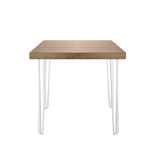 Hairpin Cafe Table White/Oak