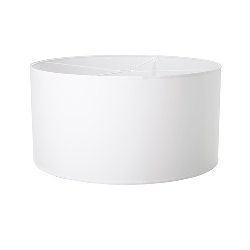 Drum Shade, White (Incl Lead & Globe)