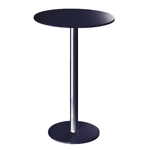 Round Bar Table; Black