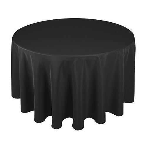 Poly Cloth; 300cm Round; Black