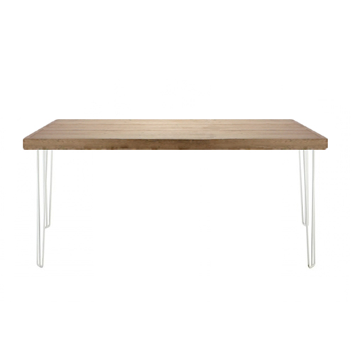 Hairpin Table White/Oak; 1.5m x 0.7m