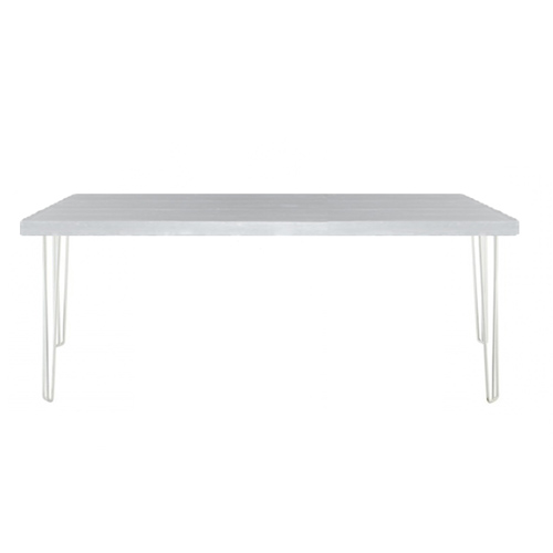 Hairpin Table White/White; 1.5m x 0.7m