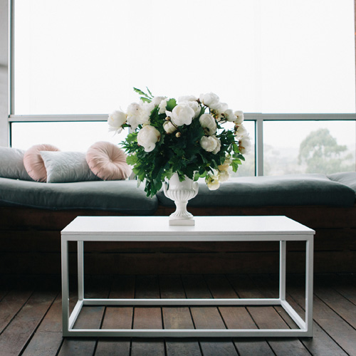 Rectangle Coffee Table; White