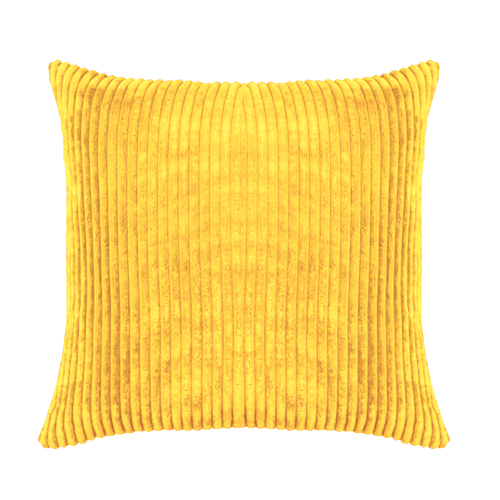 Scatter Cushion; Cord Yellow