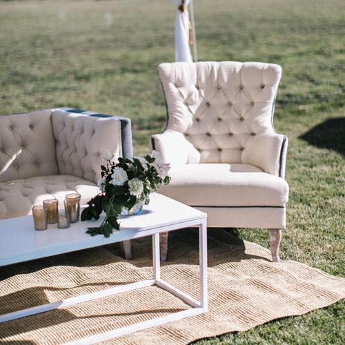 Armchair; Cream