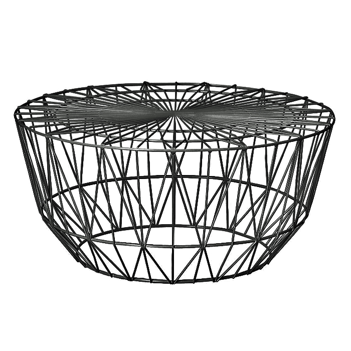 Wire Coffee Table; Black