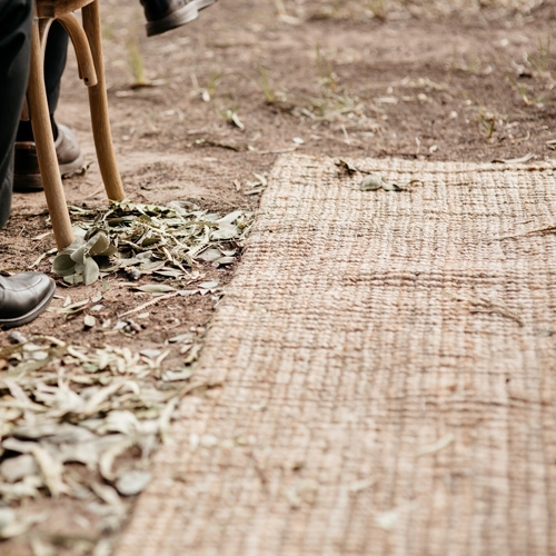 Natural Jute Aisle Runner; 0.8m x 4m