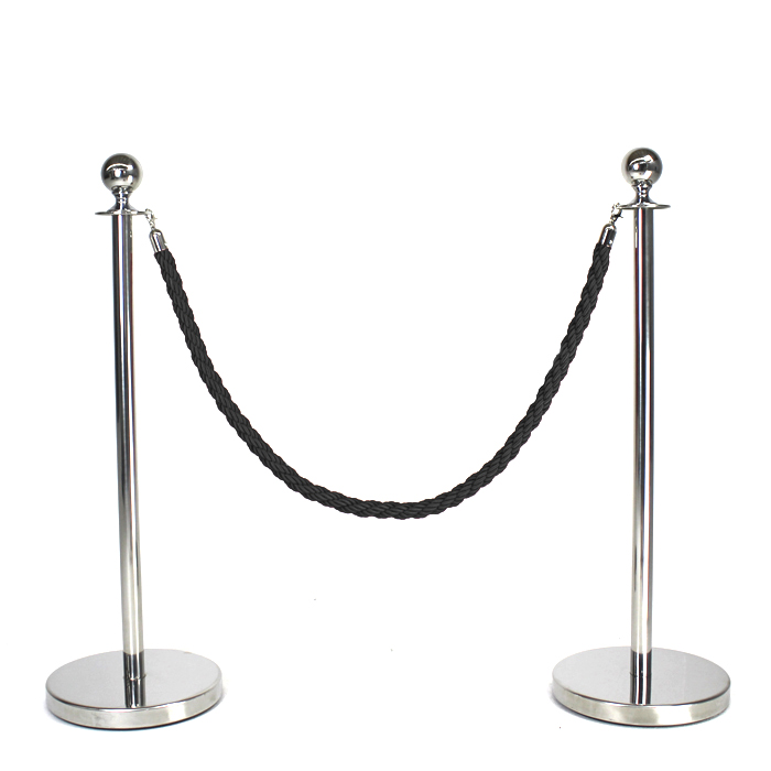 Queue Pole Rope; Black