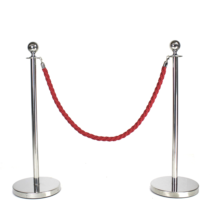 Queue Pole Rope; Red