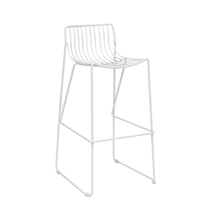 Wire Stool; White