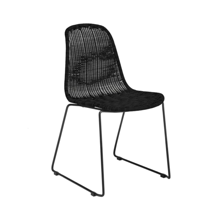 Rattan Chair; Black