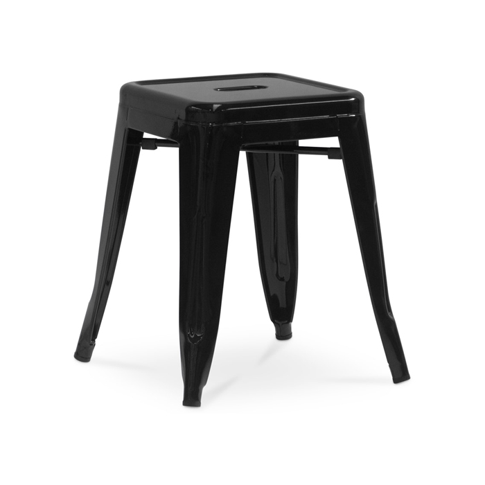 Tolix Low Stool; Black