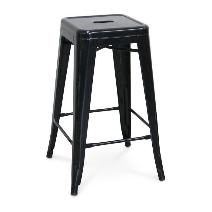 Tolix Bar Stool; Black