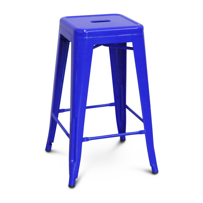 Tolix Bar Stool; Blue