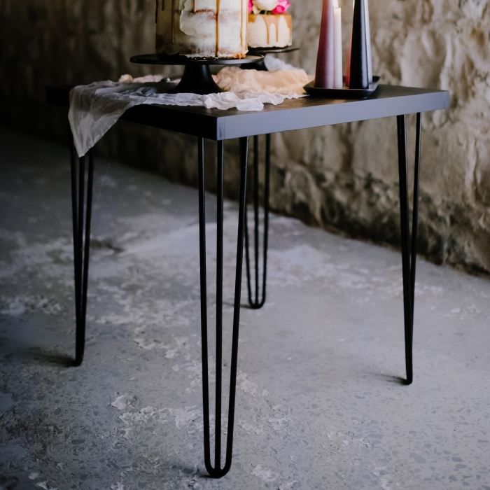 Hairpin Cafe Table Black/Black