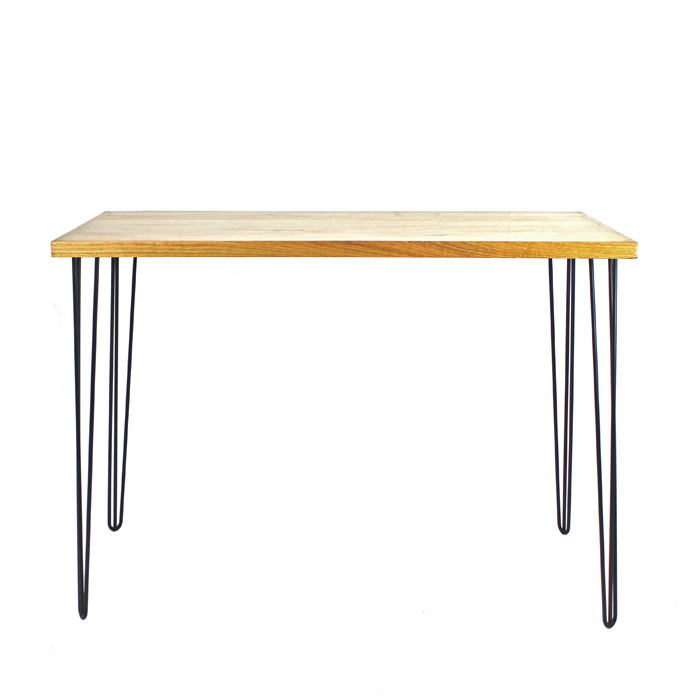 Hairpin Bar Bench Black/Oak