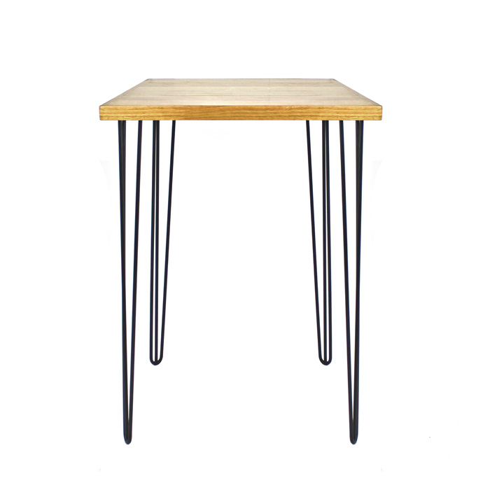 Hairpin Bar Table Black/Oak