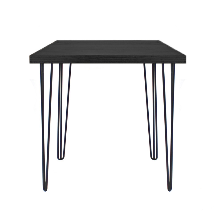 Hairpin Cafe Table Black/Oak