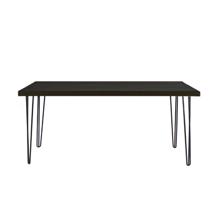 Hairpin Table Black/Black; 1.5m x 0.7m