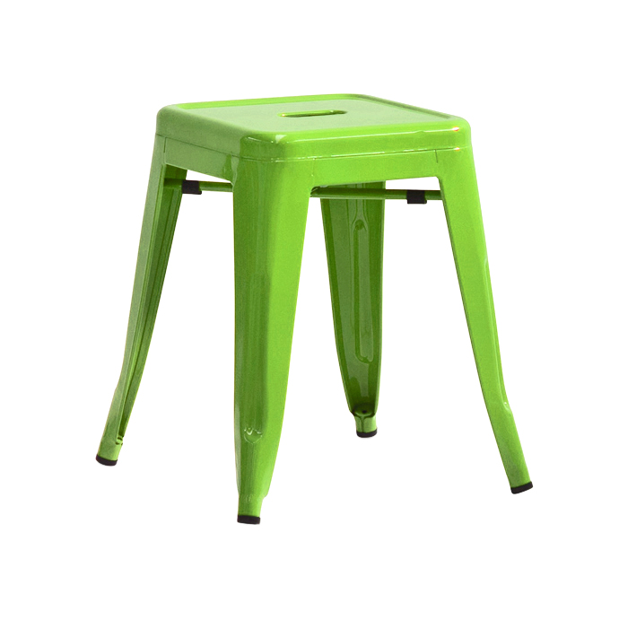 Tolix Low Stool; Lime Green