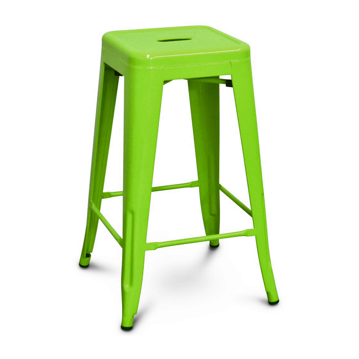 Tolix Bar Stool; Lime Green