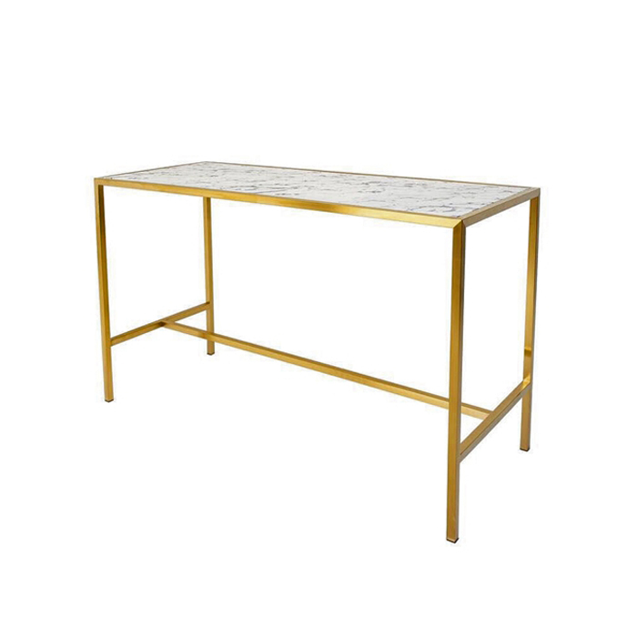 Bar Bench; Gold/Marble