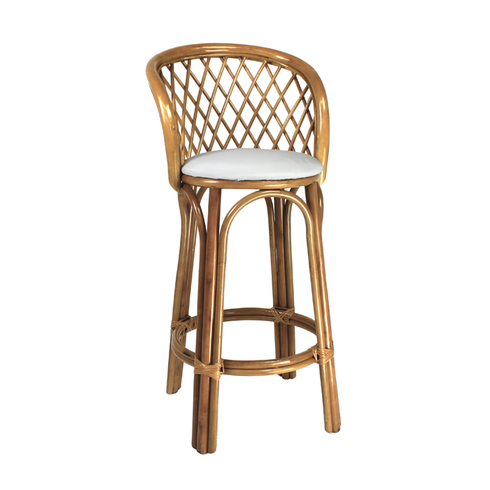 Cane Bar Stool; Natural