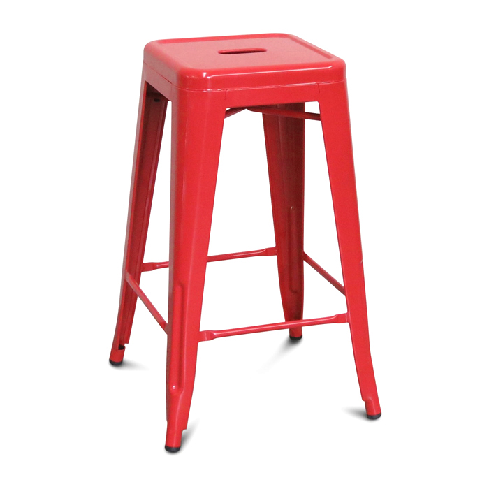 Tolix Bar Stool; Red