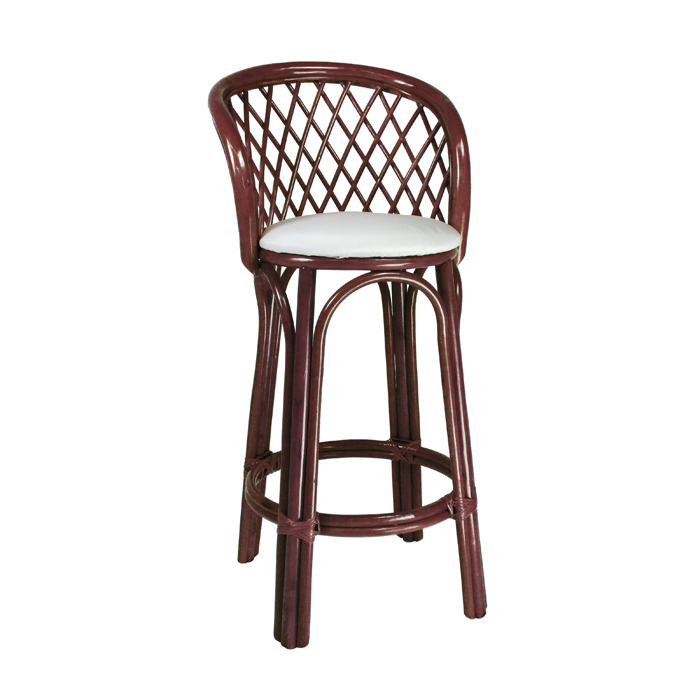 Cane Bar Stool; Walnut