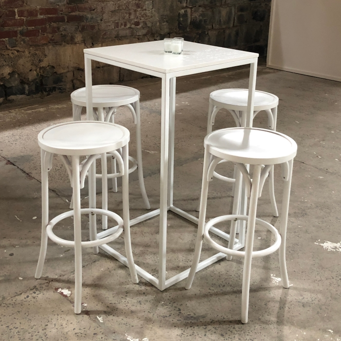 Square Bar Table: White