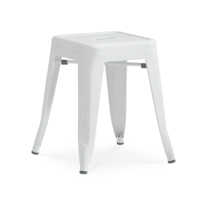 Tolix Low Stool; White