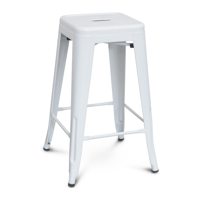 Tolix Bar Stool; White