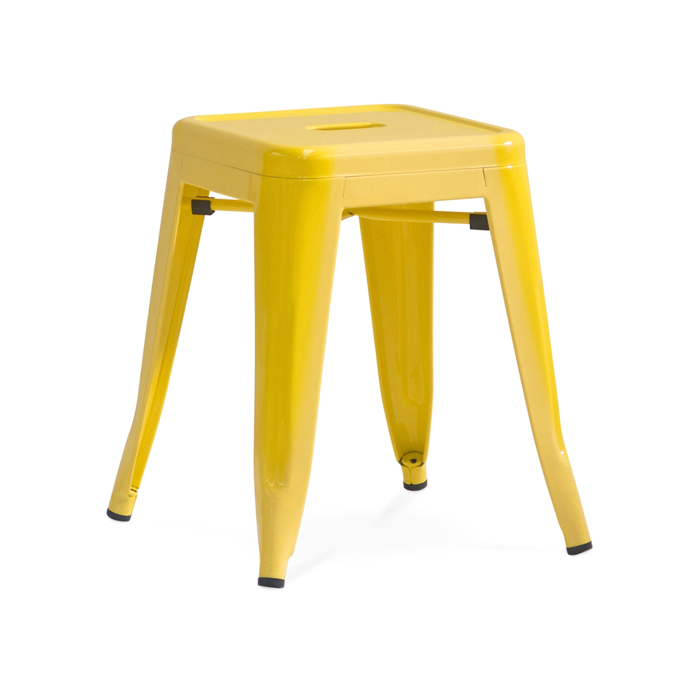 Tolix Low Stool; Yellow