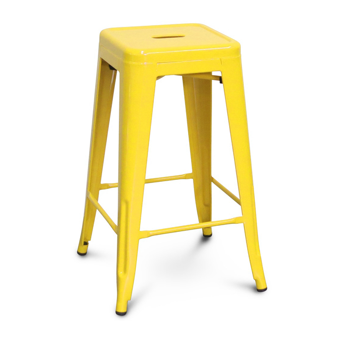 Tolix Bar Stool; Yellow