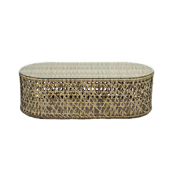 Rattan Coffee Table; Natural